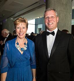 Head mistress Claire Hewitt with husband Richard Hewitt