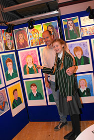 Head girl, Isabella Gilchrist-Bick with her father, Richard.