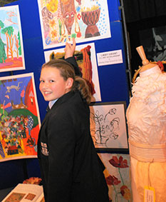 Libby Grant, now at Alderley Edge School for Girls having won an art scholarship.