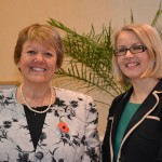L to R - Mrs Sue Marks with Mrs Sarah Haslam, who will take over the headship at WGS next September.