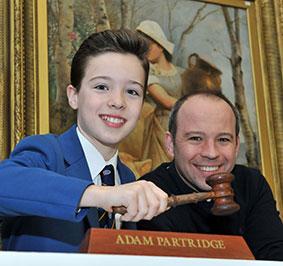 Ridley Partridge with dad, Adam