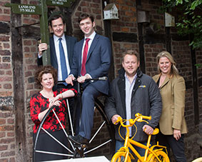 LtoR Cllr Hayley Wells-Bradshaw, George Osborne MP, Cllr James Power, Rupert Wakefield, Heather Clawson.