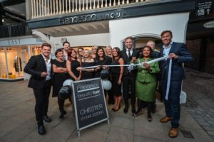 The team at Francesco Group Chester celebrate the official opening of their new salon .