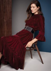 M&S velvet dress