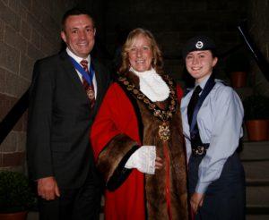 Congleton Mayor, Consort and Cadet.