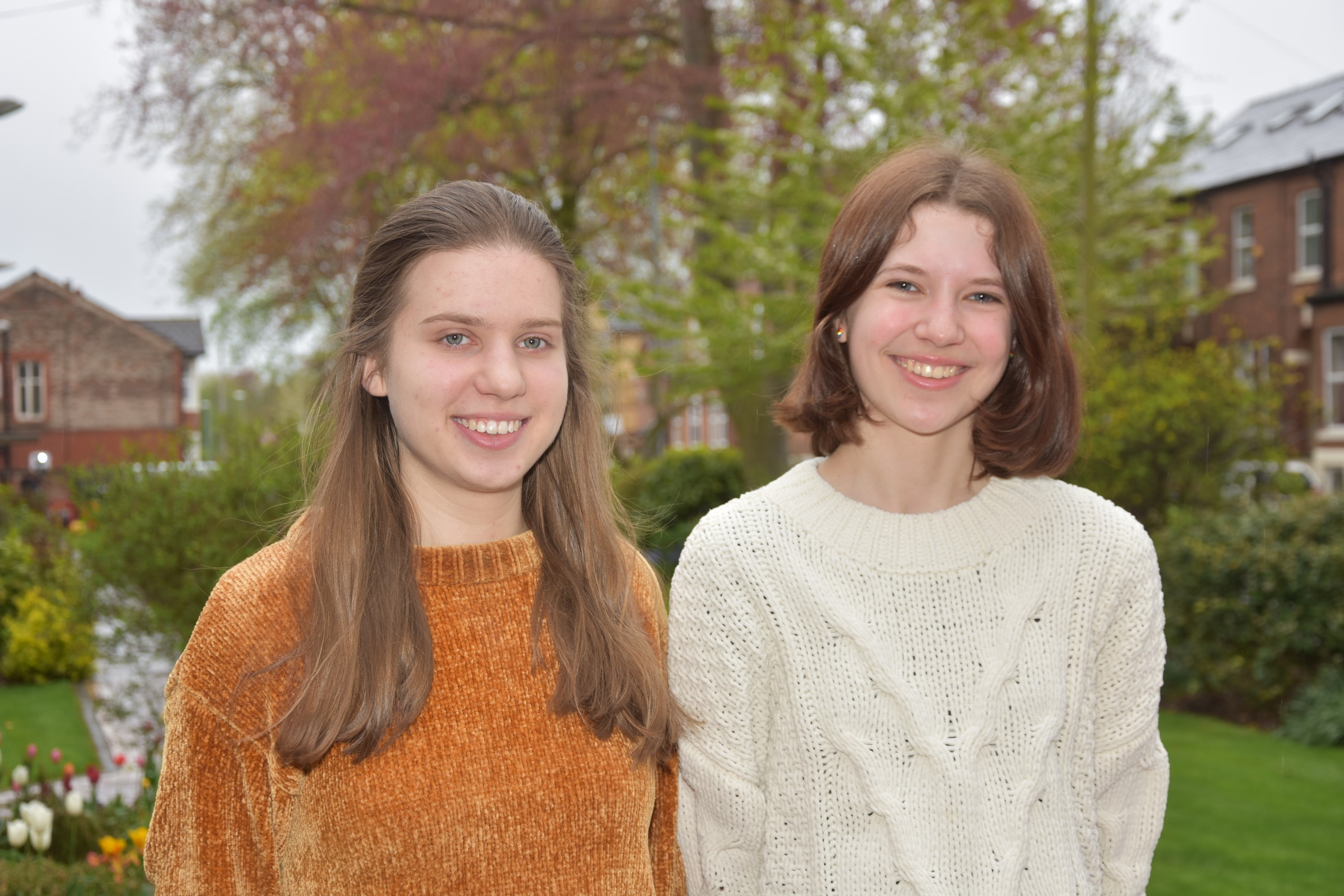 Two students from Withington are celebrating places in the international finals of science Olympiad competitions this summer - Sasha Geim (left) will represent the UK in Chemistry and Eleanor Edwards (right) has secured her place on the UK Linguistics Olympiad team.