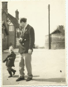 Mark Smulian and his dad, as a child, in 1961.