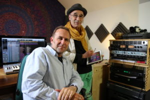 Stewart Redpath and Mark Smulian with the MindHarp