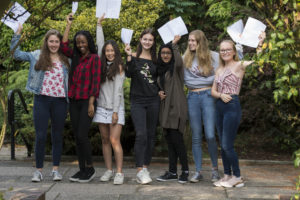 MANCHESTER HIGH GIRLS CELEBRATE SUPERB GCSE RESULTS. Pupils at Manchester High School for girls had plenty to celebrate today, with superb results across a broad range of subjects and a third of students attaining grades 7-9 (A-A*) in all of their GCSEs. Image ©Licensed to Jon Parker Lee Picture by Jon Parker Lee