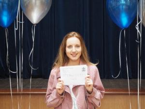Millie-Rose celebrates excellent results - next stop Leeds University