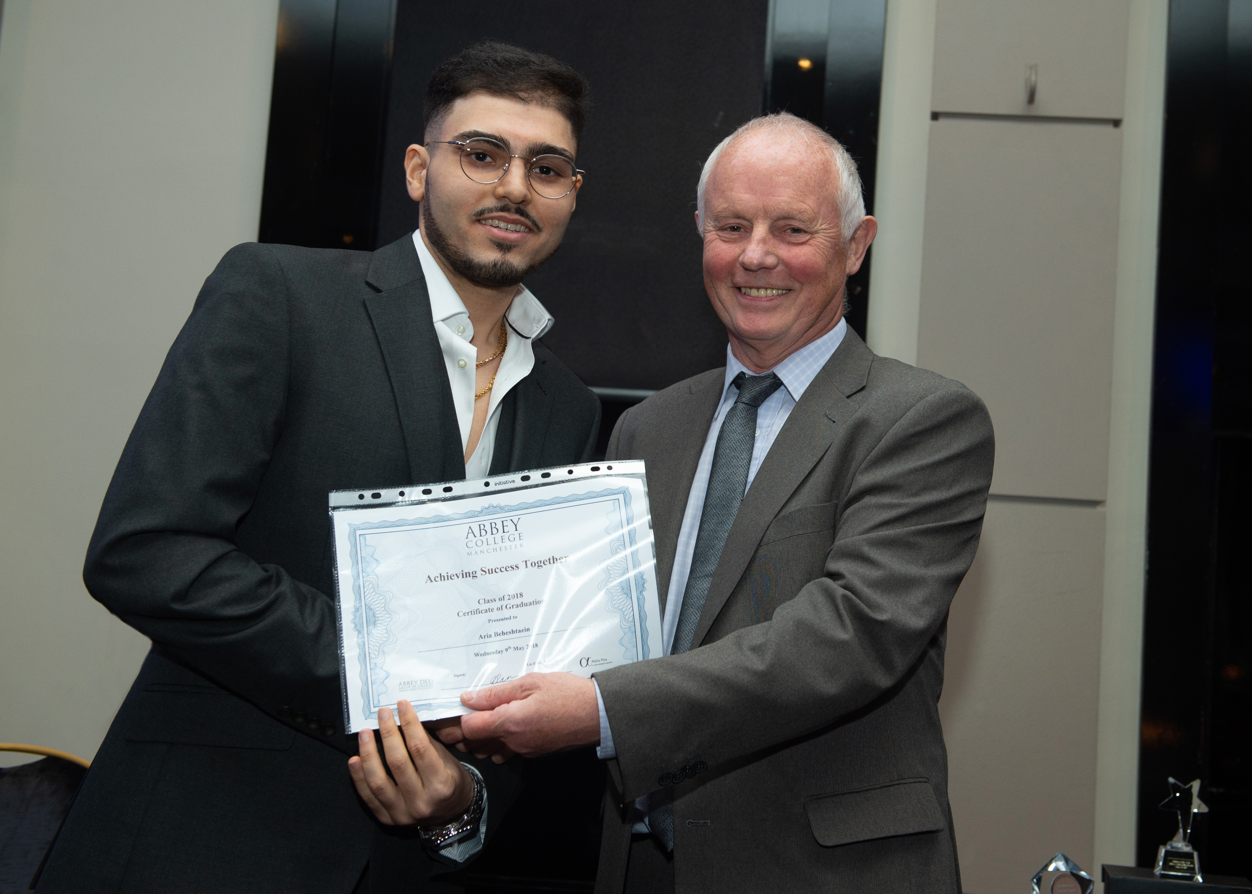 Aria Beheshtaein is one of the students to celebrate success on the IFP at Abbey College Manchester