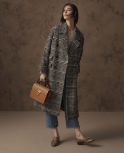 M&S check coat