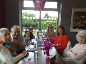 Mary Spiers , Henry Hesketh, great grandchildren Sienna White and Zack White, grandchild Georgia Hesketh, Tina Nicholson, Henry's daughter and Ruth Spiers.