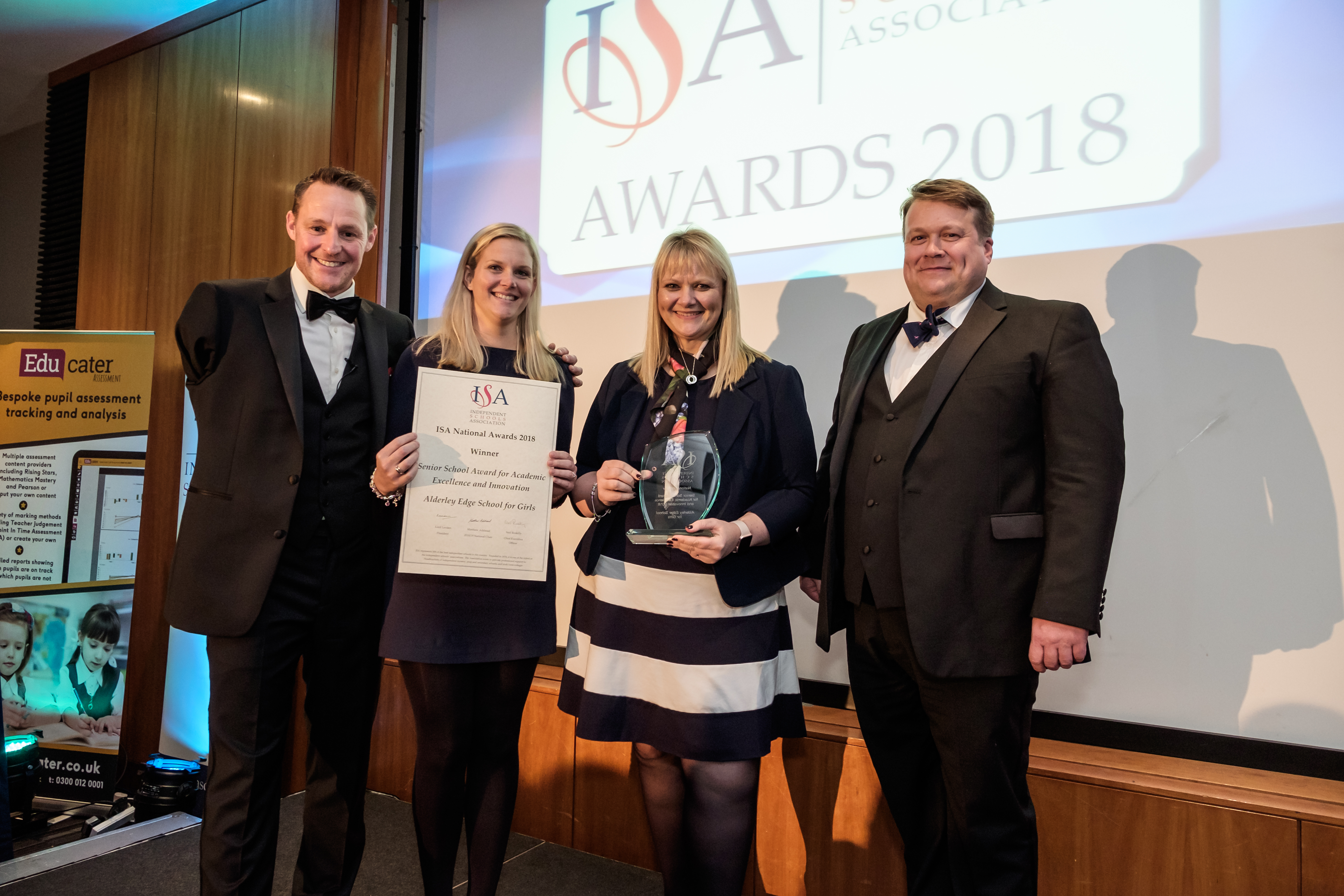 Headmistress, Helen Jeys and Debbie Dawson, director of Development receive the ISA National Award for academic excellence and innovation (002)