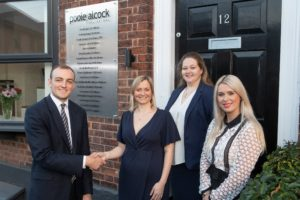 New office for Poole Alcock (f l to r) James Nicholson from Orbit Jane Jacques Sarah-Jane Dunhill and Victoria Moetamedi from Poole Alcock (002)