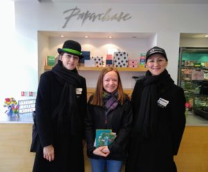 Sarah receiving free gift in Paperchase from CH1ChesterBID
