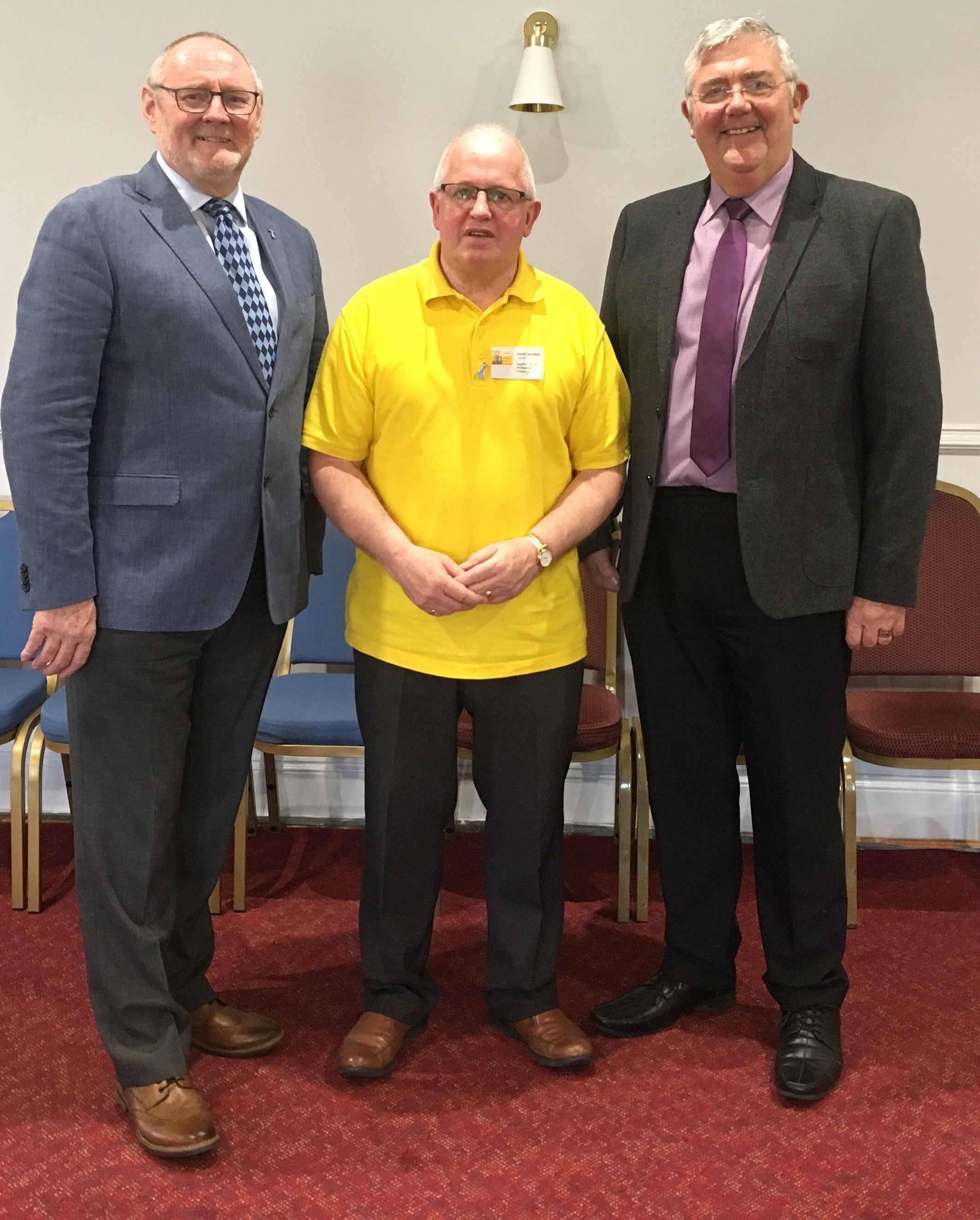 Cheshire Fremasons with David from Cancer Support Group