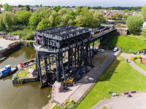Aerial shot of Anderton Boat Lift