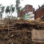 Damaged homes in Odisha State