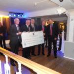 Cheshire Freemasons; Harold Knapton, Simon Palfreyman, Noel Martin and John Morgan with NMC CEO Matthew Langham