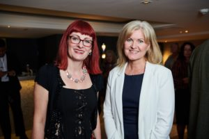 Principal Liz Elam with Claire Church from Partner University Keele University-min