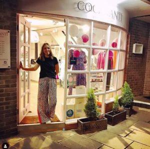 davina 2 outside shop after ss19 fashion show