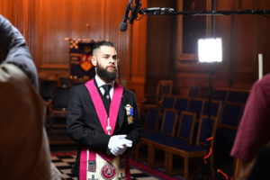 Photographer: Steve Blake - SquarePictures.co.uk Pictures of the filming and photography day at the United Grand Lodge of England, Freemason's Hall, London. Photographer: Steve Blake - SquarePictures.co.uk