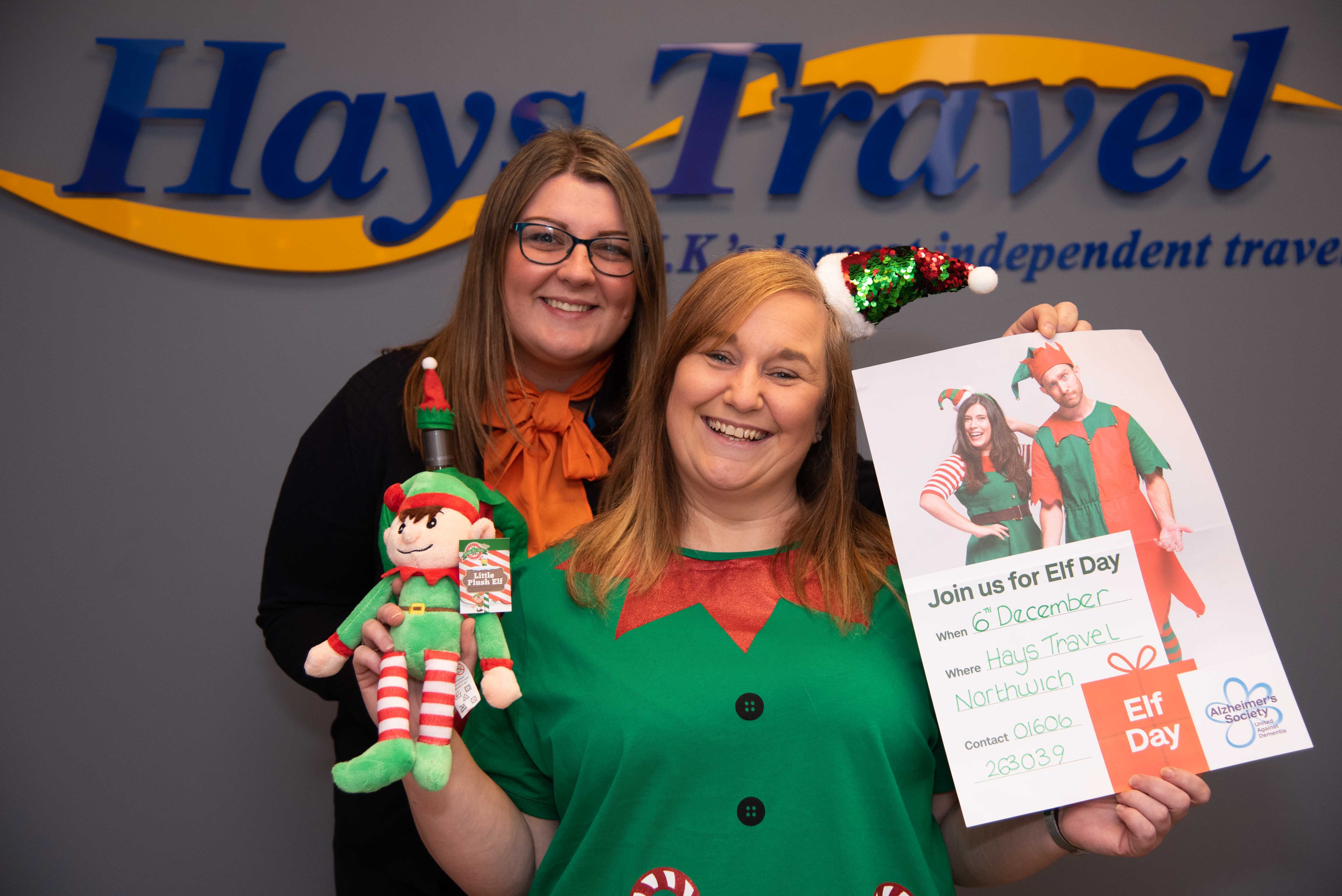 Hays Travel Northwich's manager, Rebekah Gate, and Gemma Dudley, (left).
