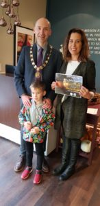 Winners: Nicholas Austen and Cllr and Knutsford Town Mayor Andrew Malloy