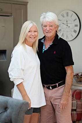 Kay and Willie enjoy their 'quiet life' in Cheshire